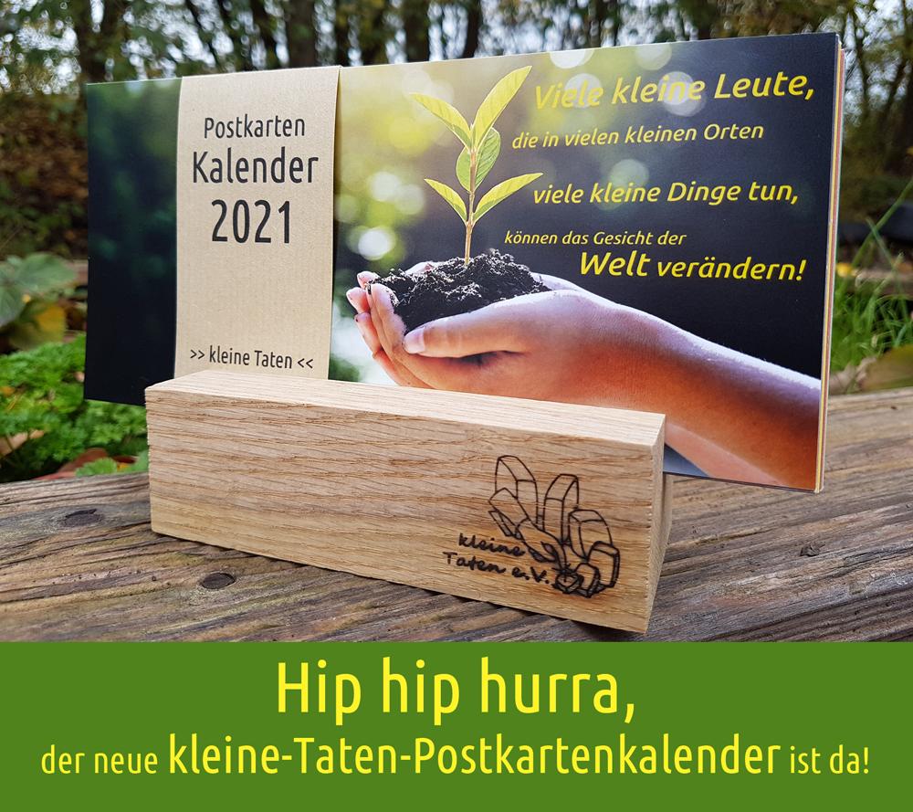 Der Kleine Taten-Postkartenkalender 2021 ist da!